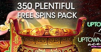 350 Free Spins Pack at Slotocash, Uptown Aces, Uptown Pokies Casinos
