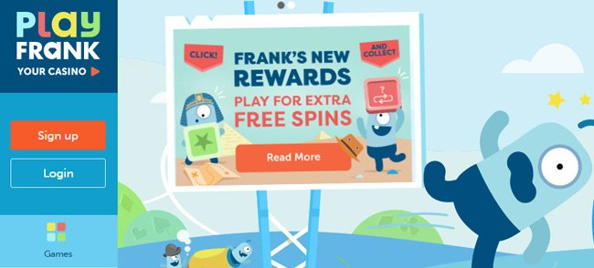 "Grab the ""Get Rewarded"" challenge at PlayFrank Casino"
