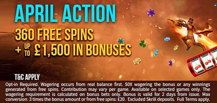 April Bonuses and Bonus Spins at Schmitts Casino