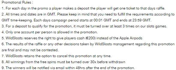Get lots of Bonus Spins plus win a pair of Apple Airpods at WildSlots Casino