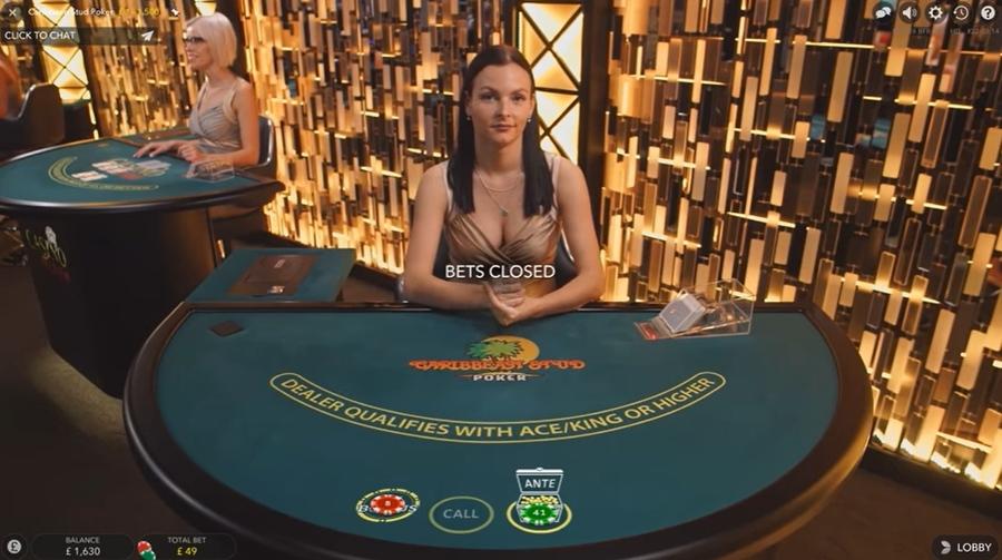 Caribbean Stud Poker Live by Evolution Gaming