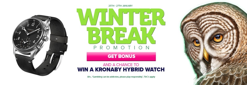 CasinoLuck's Bonus Spins Offer comes with a Cool Kronaby Hybrid Watch