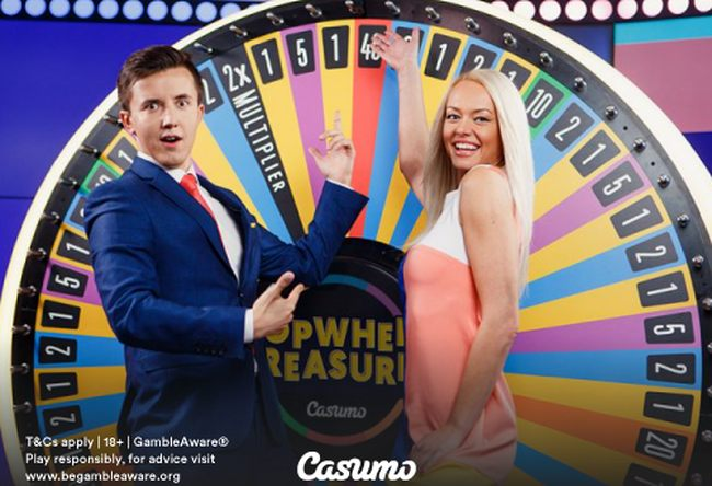 Casumo Exclusive: Topwheel Treasures Live Dealer Game