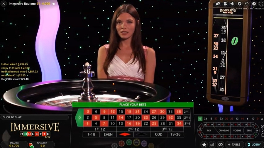 Evolution Gaming Live Immersive Roulette