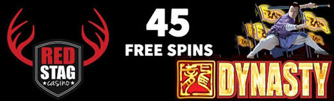 45 Free Spins - Red Stag