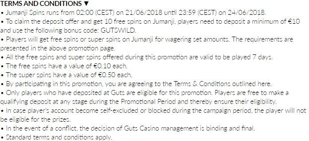 Get Extra Spins For Jumanji Slot At Guts Casino
