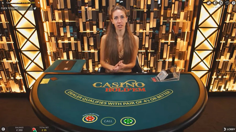 Live Casino Hold'em by Evolution Gaming