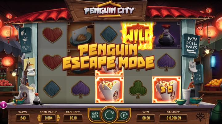 Penguin city Slot - The Penguin Escape läge
