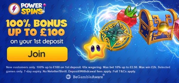 Power Spins Casino Bonus