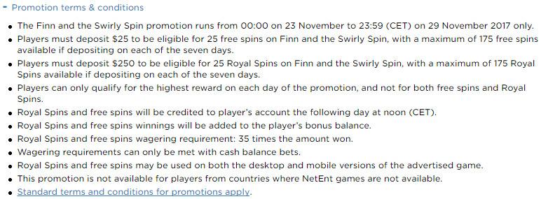 Royal Panda Casino Finn and the Swirly Spin