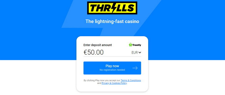 Thrills Casino Relaunched As Instant Pay N Play Casino
