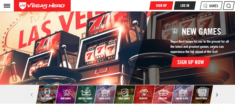 Vegas Hero Casino Review Uk Eu