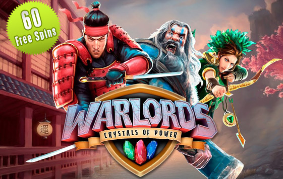 With upto 60 Warlords Free Spins at the All British Casino