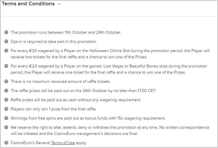 Win Upto Euro 20000 In Casino Euro Halloween Contest